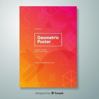Geometrisches farbverlaufsplakat
