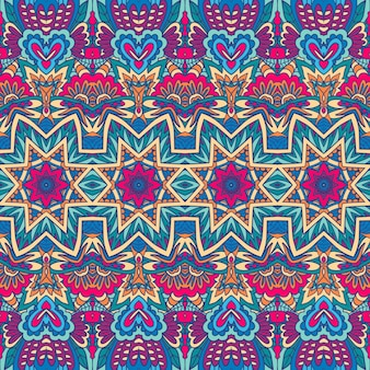 Geometrisches gekritzel bunter abstrakter dekorativer vektor nahtloses dekoratives muster