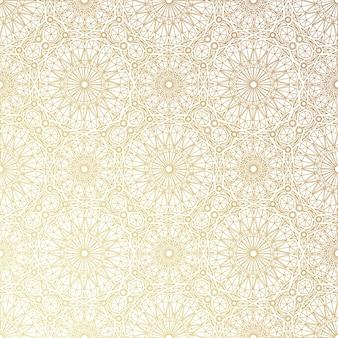 Geometrisches goldenes muster. vektorillustration. spitzenmuster. lineares muster. königlicher stil. nahtlose verzierung.