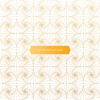 Geometrisches goldenes und elegantes musterdesign