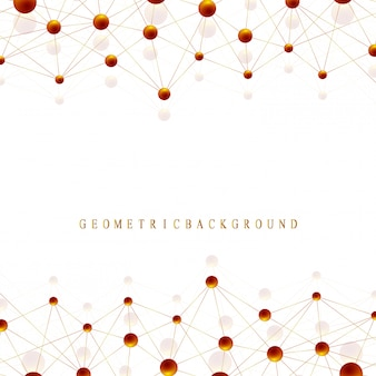 Geometrisches grafisches hintergrundmolekül und kommunikation. big-data-komplex mit goldenen verbindungen. linien plexus, minimale anordnung. digitale datenvisualisierung. wissenschaftliche kybernetische illustration.