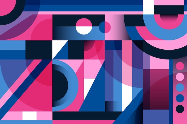 Geometrisches hintergrunddesign mit farbverlauf