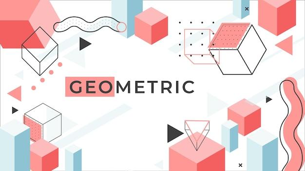 Geometrisches hintergrundkonzept