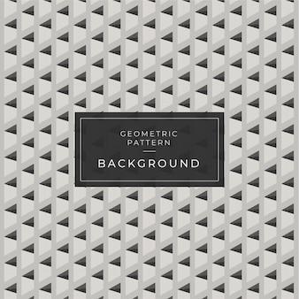 Geometrisches hintergrundmuster 3d schwarzweiss