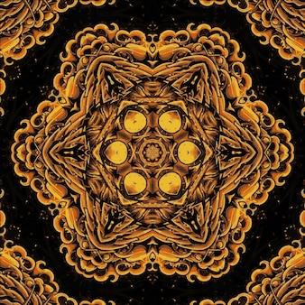Geometrisches kaleidoskop des dunklen geraden musters. abstrakter hintergrund. illustration für design