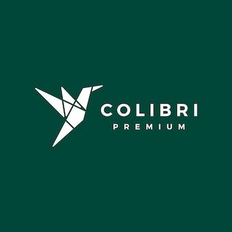 Geometrisches kolibri-kolibri-logo