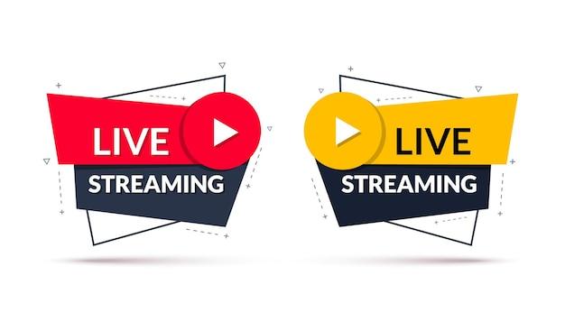 Geometrisches live-streaming-banner