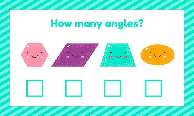 Geometrisches logisches lernspiel für kinder im vorschul- und schulalter.