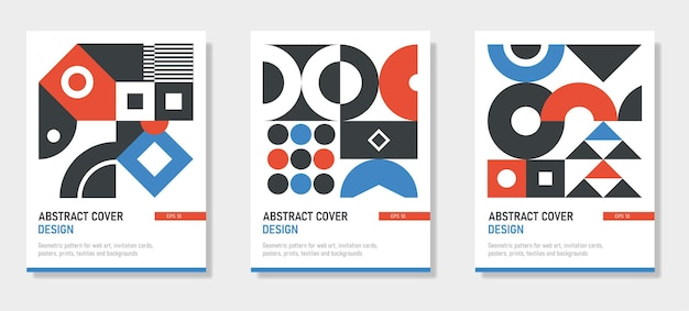 Geometrisches minimalistisches design für das werbe-branding-web-banner-geschäft