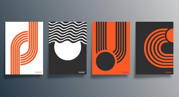 Geometrisches minimalistisches design für flyer, poster, broschürencover, hintergrund, tapeten, typografie oder andere druckprodukte. vektor-illustration.