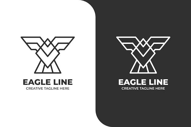 Geometrisches monoline-adler-logo