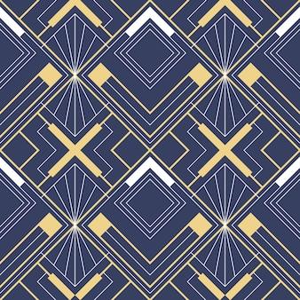 Geometrisches muster des abstrakten art deco