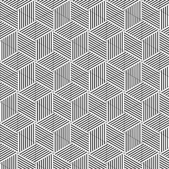 Geometrisches muster des abstrakten würfels
