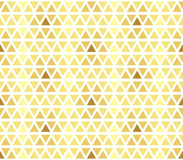 Geometrisches muster des nahtlosen golddreiecks. retro ornament für textil und print.