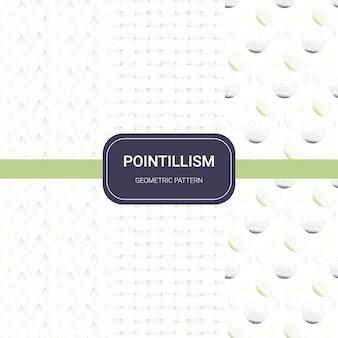 Geometrisches muster des pointillismus