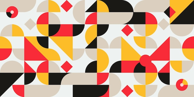 Geometrisches muster mit abstraktem skandinavischen bauhaus
