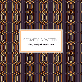 Geometrisches muster mit futuristischem stil