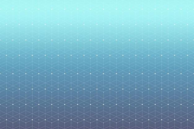 Geometrisches muster mit verbundenen linien und punkten. konnektivität im grafischen hintergrund. moderne, stilvolle polygonale kulisse für ihr design. vektor-illustration.