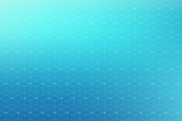 Geometrisches muster mit verbundener linie und punkten.