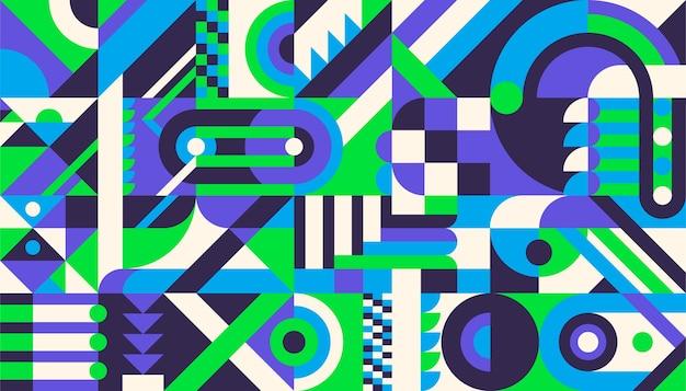 Geometrisches musterdesign im retro-stil