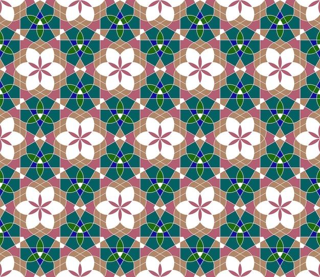 Geometrisches nahtloses muster basierend auf traditionellem islamischem ornament