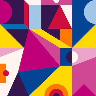 Geometrisches nahtloses muster der modernen artzusammenfassung.