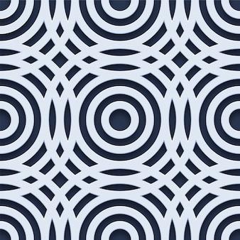 Geometrisches nahtloses muster des 3d-kreises