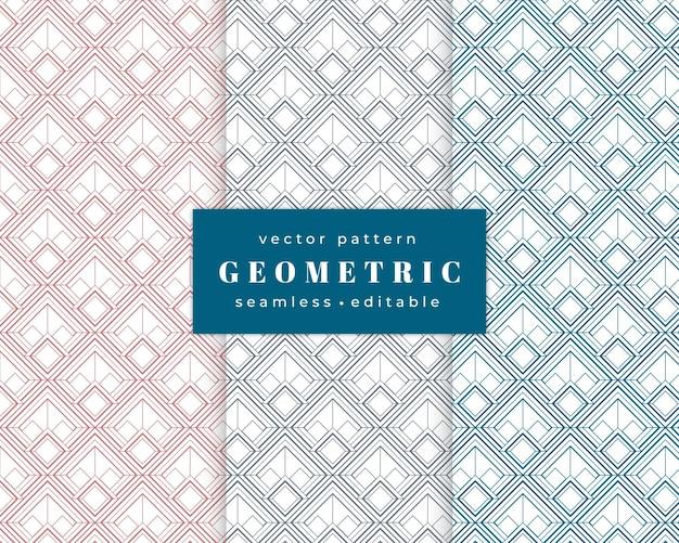 Geometrisches nahtloses muster des abstrakten art deco