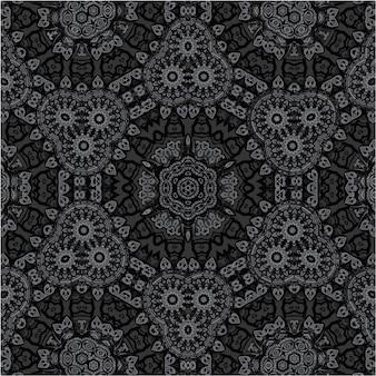 Geometrisches nahtloses muster des ethnischen vektors. geschenkpapier ornament. arabischer teppich nahtloses muster. geometrischer blumenhintergrund