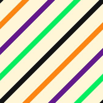 Geometrisches nahtloses muster des halloween-diagonalstreifens