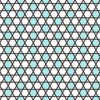 Geometrisches nahtloses muster im islamischen stil