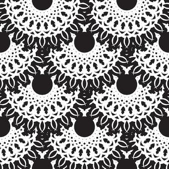 Geometrisches nahtloses muster, marokkanisches fliesendesign, nahtloser schwarzer fliesenhintergrund