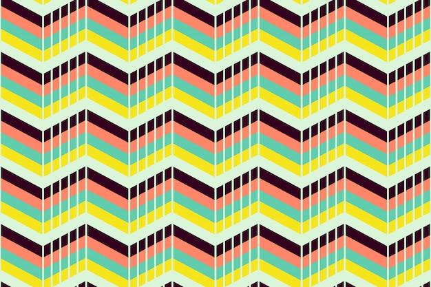 Geometrisches nahtloses muster mit abstraktem streifen