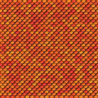 Geometrisches nahtloses muster mit papierschnitt realistische runde elemente in den farben gelborange und rot