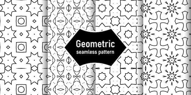 Geometrisches nahtloses musterdesign - abstraktes geometrisches muster