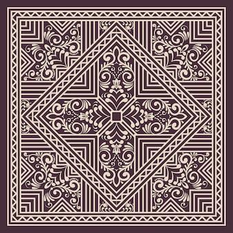 Geometrisches ornamentmusterelement im zentangle-stil. orientieren sie traditionelle verzierung. boho gestylt. elegantes element des abstrakten geometrischen nahtlosen musters für karten und einladungen.