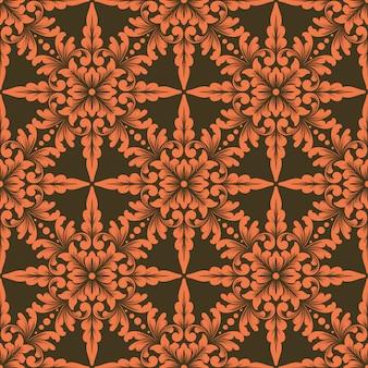 Geometrisches ornamentmusterelement im zentangle-stil.