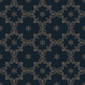 Geometrisches ornamentmusterelement im zentangle-stil