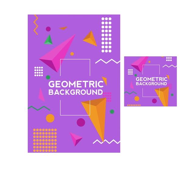 Geometrisches plakat und hintergrund