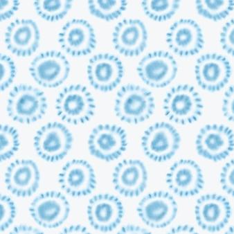 Geometrisches shibori-muster des aquarells