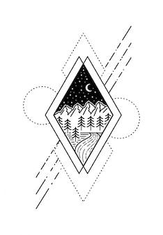 Geometrisches tattoo-design