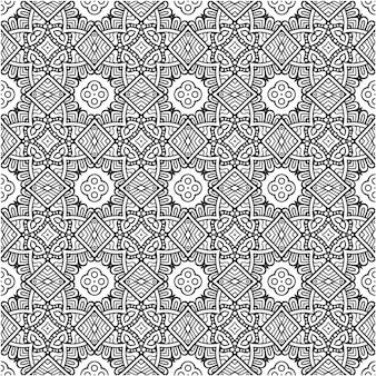 Geometrisches vintage nahtloses muster
