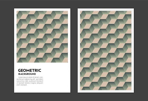 Geometrisches würfelentwurf mit 3d volumenabdeckungssatz