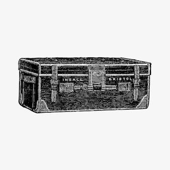 Gepäck im vintage-stil