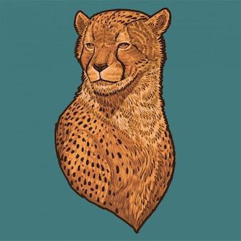 Gepard-hauptvektor-illustration