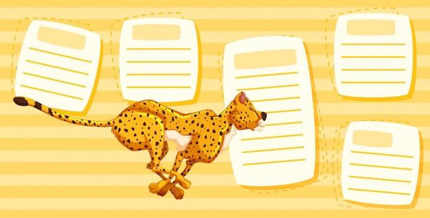 Gepard läuft auf notizen