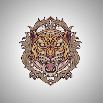 Gepard-verzierung