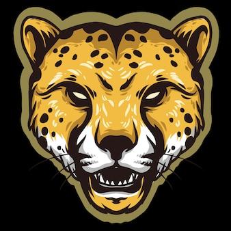 Gepardenkopf wütendes design