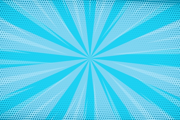 Gepunktete blaue geschwindigkeit comic-stil hintergrund