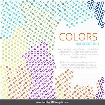 Gepunktete doodle farbigen hintergrund